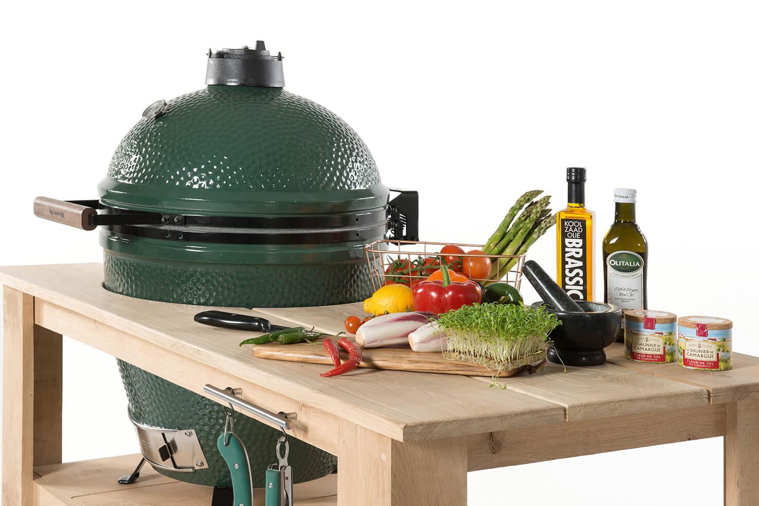 big green egg large eiken tafel. Black Bedroom Furniture Sets. Home Design Ideas